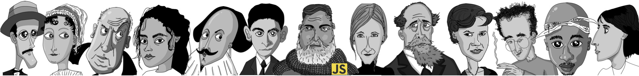 Authors featured in If Hemingway Wrote JavaScript